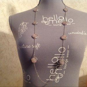 Loft Silver Tone Gray Chain Necklace